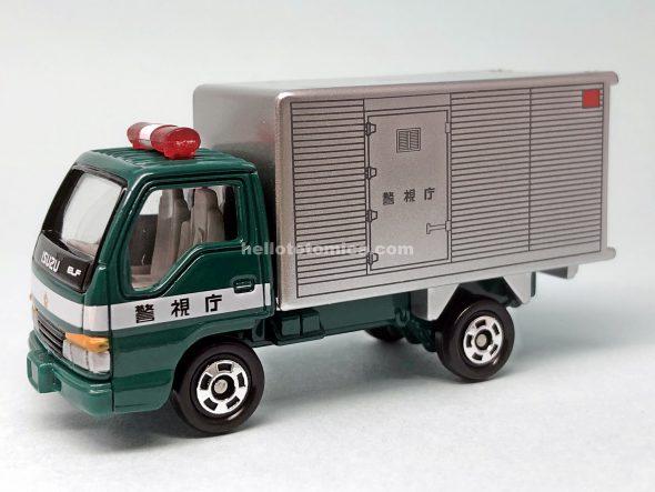 83-4 いすゞ エルフ パネルトラック 資材運搬車 はるてんのトミカ