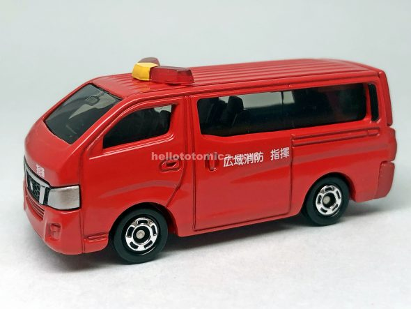 27-10 NISSAN NV350 CARAVAN FIRE CHIEF CAR はるてんのトミカ