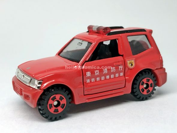85-4 MITSUBISHI PAJERO CONTROL VEHICLE はるてんのトミカ