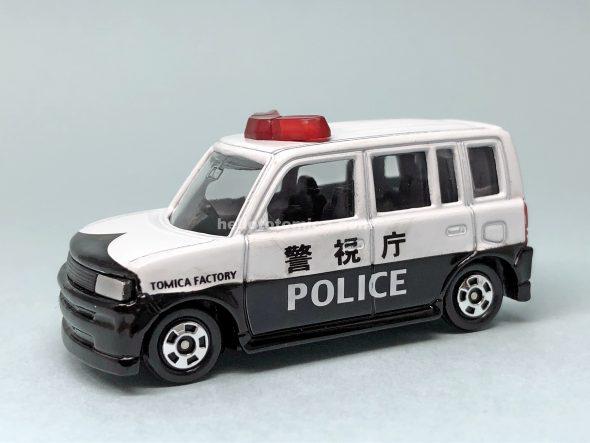 5-4 トヨタ bB パトロールカー 黒シート はるてんのトミカ